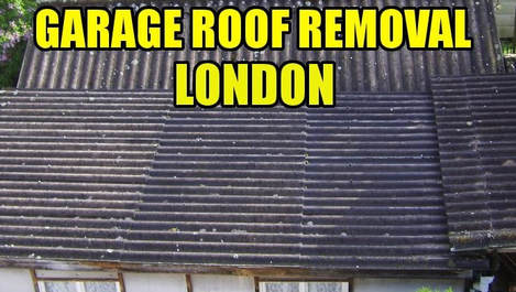 garage roof asbesto removal london